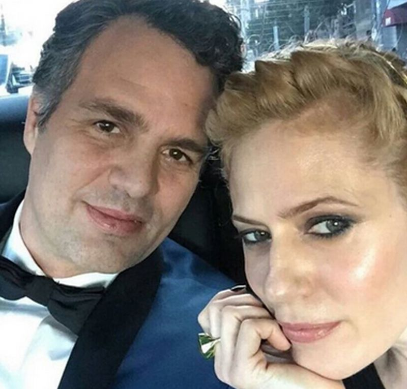 Mark Ruffalo with wife Sunrise
