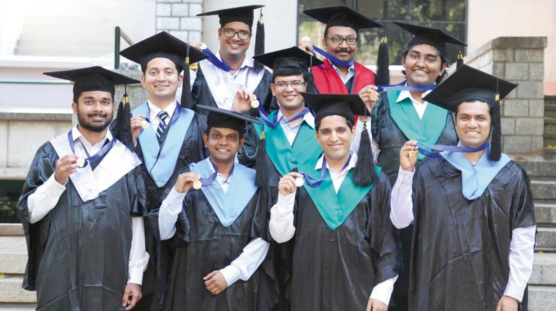 IIMB students after their graduation on Thursday.