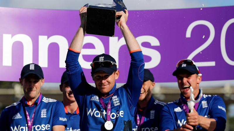 It was further proof of the progress England had made in ODI cricket since their humiliating first-round exit from last year's World Cup, which included a nine-wicket thrashing by Sri Lanka in Wellington. (Photo: AP)