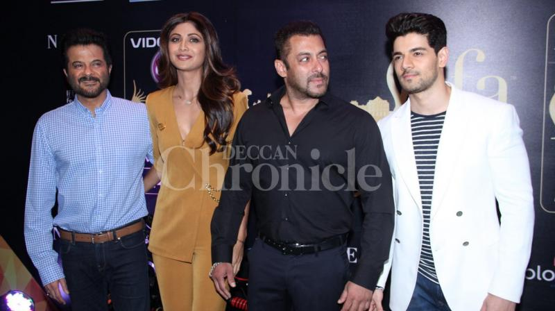 The 17th edition of International Indian Film Academy (IIFA) awards begins in Spain from June 23, and a bevvy of celebrities gathered to make an announcement at a press conference. Photo: Viral Bhayani