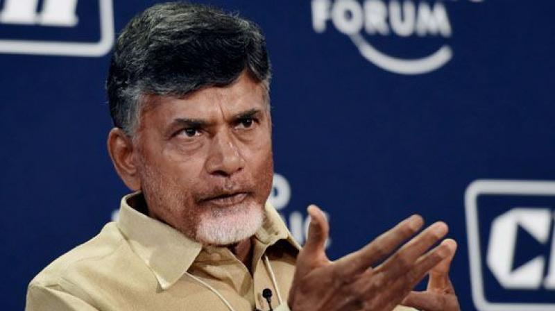 Telugu Desam Party Chief and Andhra Pradesh Chief Minster Chandrababu Naidu