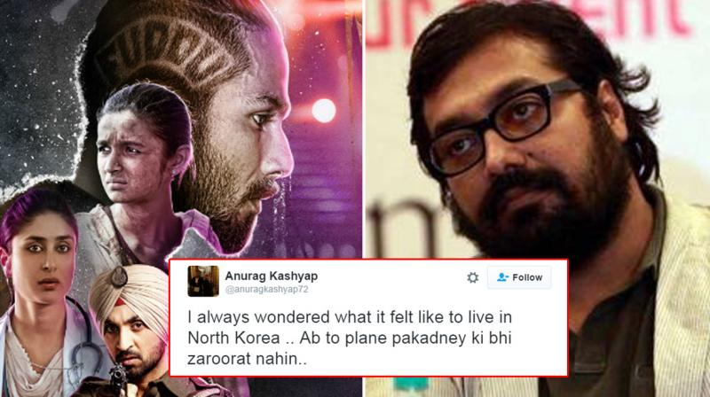 Anurag's tweet came after the Censor Board raised certain objections regarding references to Punjab.