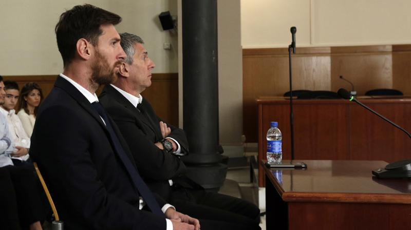 Former Argentina skipper and Barcelona star Lionel Messi and his father are sentenced to 21 months for tax fraud. (Photo: AP)