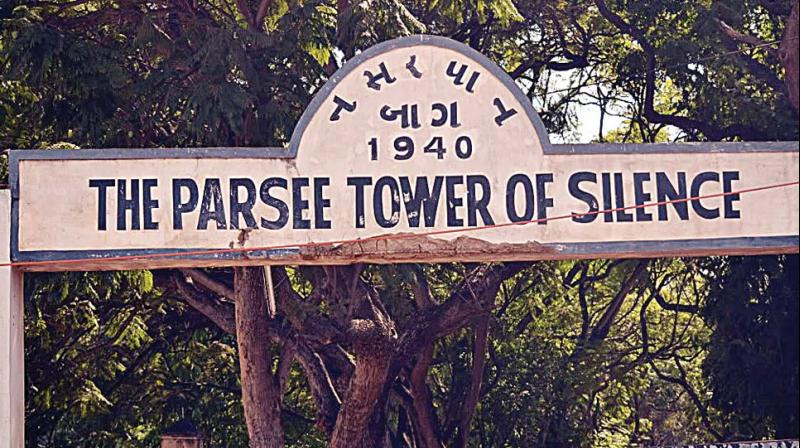 The Parsi Tower of Silence  near Hebbal Flyover where the community conducts the last rites of its dead