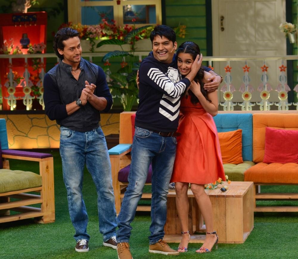 Shraddha Kapoor and Tiger Shroff promote Baaghi on Kapil Sharma's show