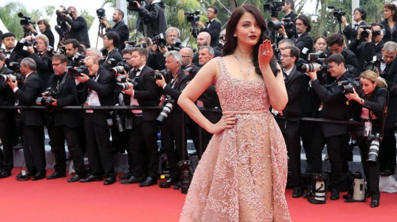 Aishwarya celebrated her 15th year at the Cannes festival in style. Photo: AFP