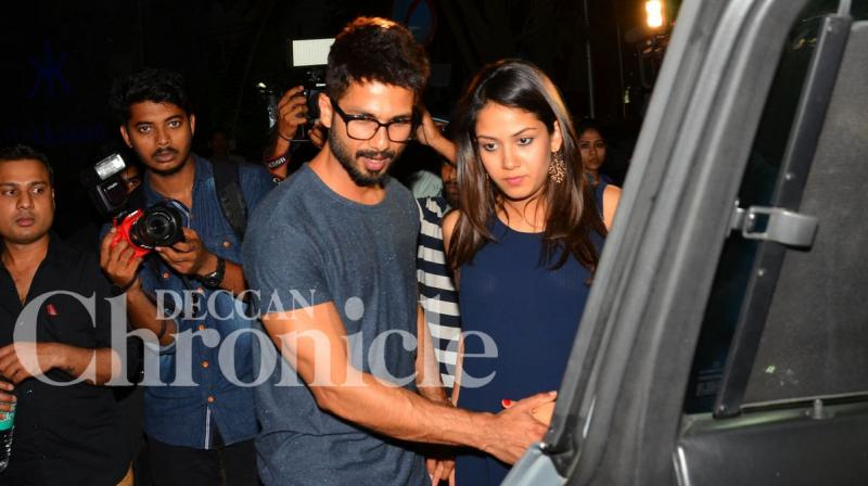 Shahid Kapoor is taking his daddy duties very seriously and here's proof. Photo: Viral Bhayani