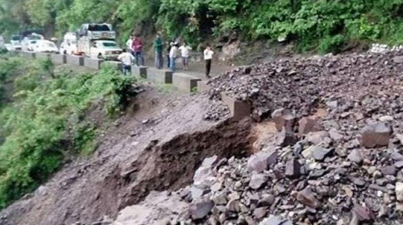 The cloudburst brought over 100 mm rains in two hours in a region of 50 sq km, affecting several villages. (Photo: Twitter)