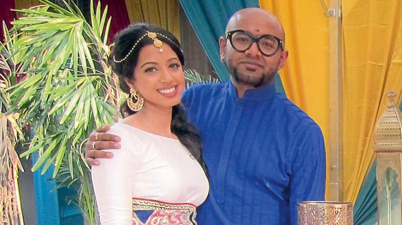 Musician Benny Dayal and Catherine at their Moroccan themed Mehendi party. The couple tied the knot in Bengaluru on Sunday