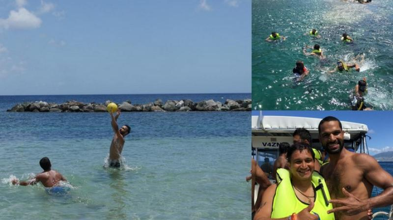 The Indian cricket team had a team bonding session by the bay at Saint Nevis on Tuesday. (Photo: BCCI)