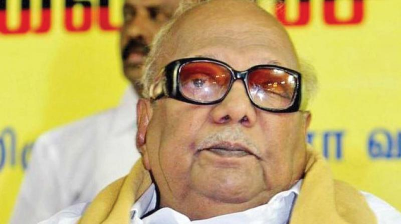 While the DMK-led alliance together won 98 seats, the  Karunanidhi-led party had got 89 seats, followed by eight seats of ally Congress and one IUML (Photo: File)