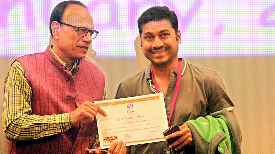 The Telugu film Krishnamma Kalipindi Iddarini was awarded the best romantic film at the Jaipur International Film Festival.