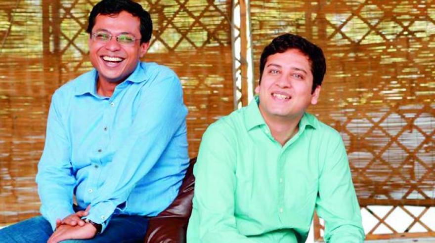 Sachin Bansal (left) and Binny Bansal.