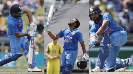 Rohit Sharma continued to thrive against Australia's bowlers with an unbeaten 171. (Photo: BCCI/ AP)
