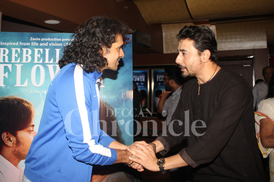Bollywood director Imtiaz Ali attended the special screening of the film 'Rebellious Flower', a biopic on spiritual guru Osho Rajneesh.