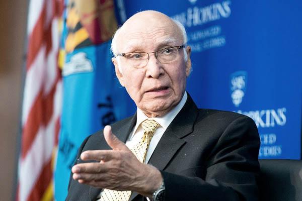 Pakistani Adviser on Foreign Affairs Sartaj Aziz. (Photo: AFP)