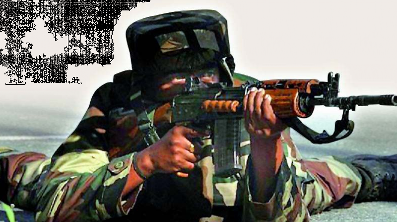 Troops use AK-47s in counter-insurgency operations, while the INSAS rifles are issued for peace stations.