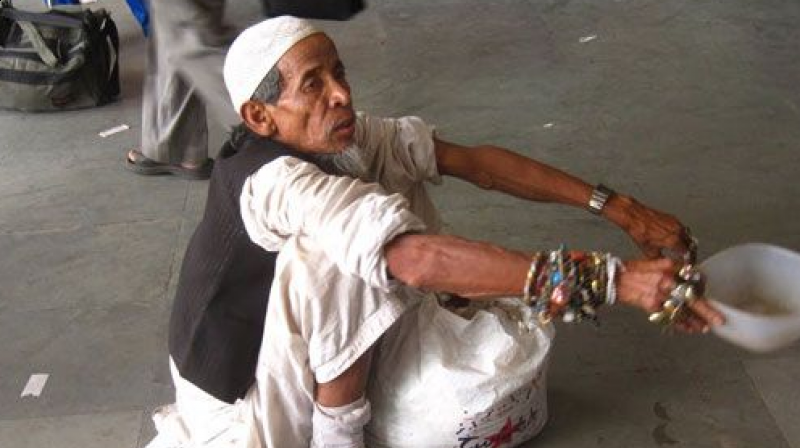 According to the 2011 Census, population of beggars is about 4.13 lakh which includes 3.72 lakh persons under non-workers category and about 41,400 under marginal workers category.  (Representational image)