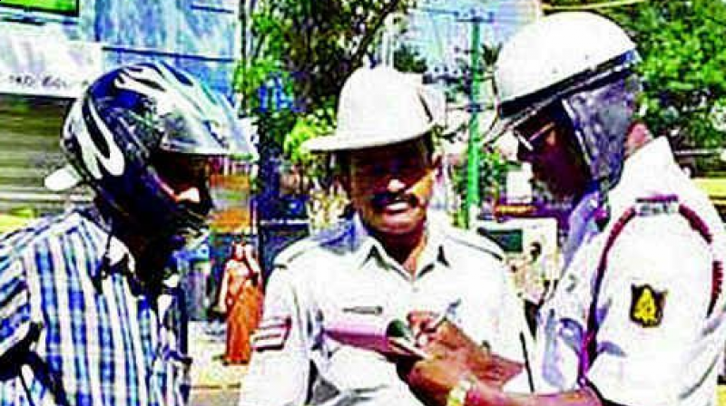 Mr Ranganath said that traffic enforcement staff have been provided hand-held devices.  (Representational image)
