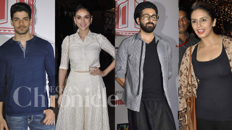 The 'Khidkiyaan Theatre Festival' in Mumbai, saw a star studded finale, with a number of young Bollywood celebrities in attendance. Photo: Viral Bhayani