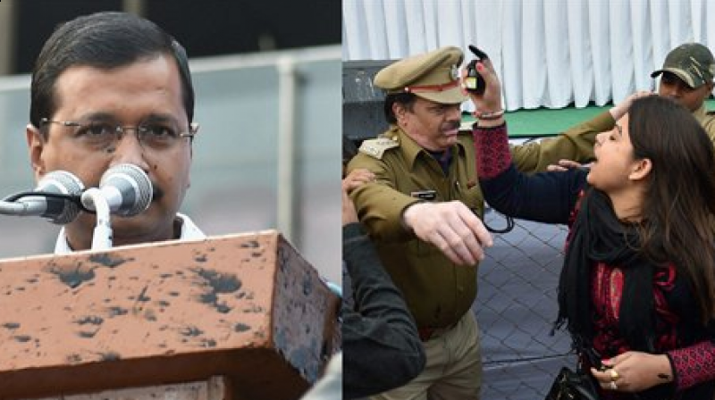 26-year-old Bhavna Arora, who claimed to be the in-charge of the Punjab unit of Aam Aadmi Sena, threw ink at Kejriwal at a public rally held to celebrate the