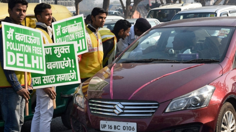 Major roads in North, West and East Delhi were also chock-a-block giving a harrowing time to commuters. (Photo: PTI)