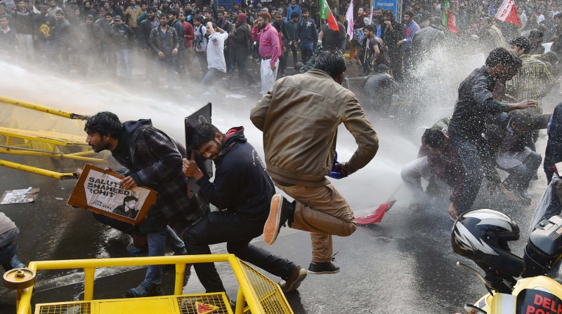 Police used water cannons to bring the protests under control (Photo: PTI)