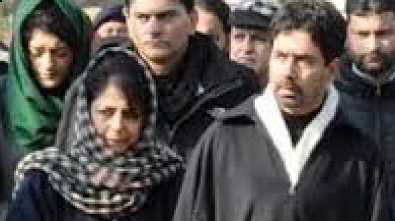Tassaduq Hussain with sister and PDP president Mehbooba Mufti.