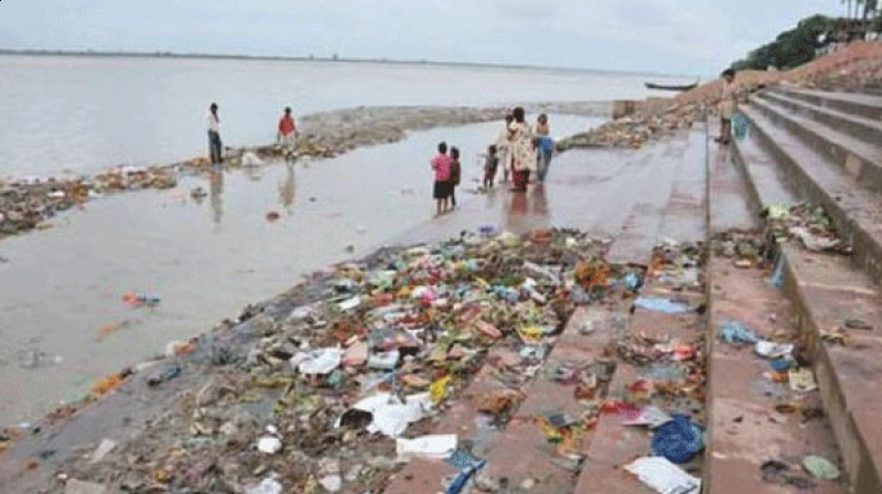 Image result for river pollution in india images