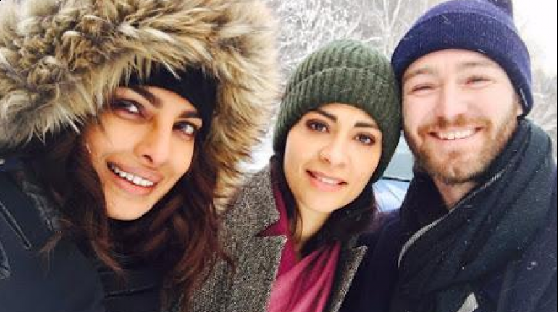 Priyanka Chopra with Yasmine Al Massri and Jake Mclaughlin (Photo: Instagram)
