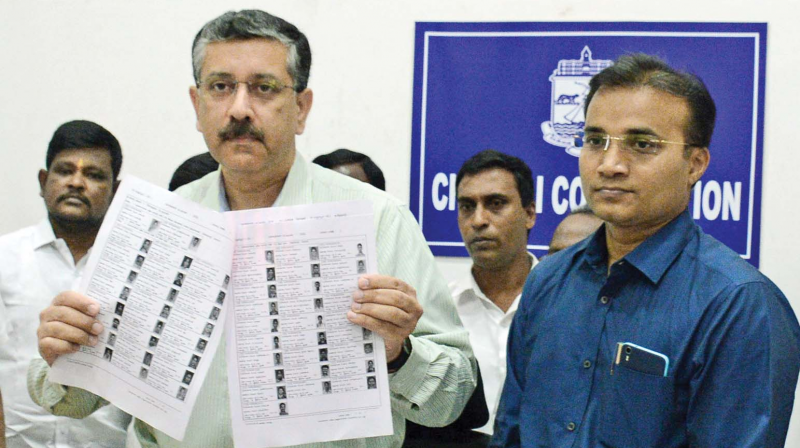 District  election  officer Vikram Kapur  releases voters list at Ripon  buildings on Wednesday. (Photo: DC)