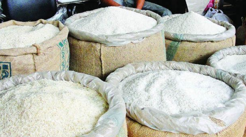 The Vigilance and Enforcement sleuths seized 14,586 bags of rice worth Rs 89.32 lakh (Representational image)