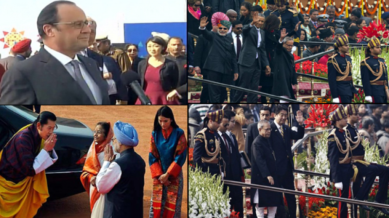 Hollande will be chief guest at Republic Day parade on Tuesday as part of his three-day visit. (Photo: Twitter)