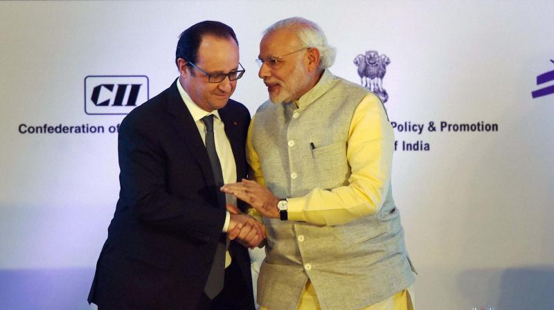 PM Narendra Modi and French President Francois Hollande (Photo: PTI)