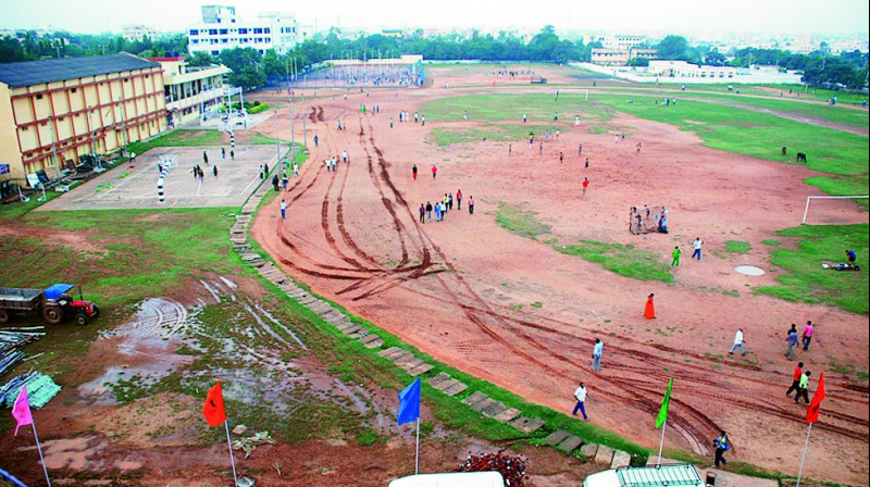 The Indoor stadium which is all set for renovation at A.C. Subba Reddy Sports Stadium in Nelore. (Photo: DC)