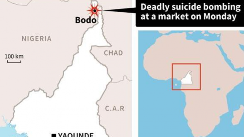 Suicide bombers kill 32 in north cameroon market map of cameroon locating bodo village where at least 32 people were killed in suicide ccuart Choice Image