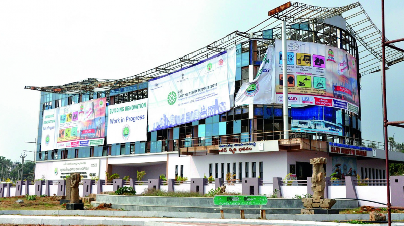 A view of the Rajiv Gandhi Smriti Bhavan in Vizag