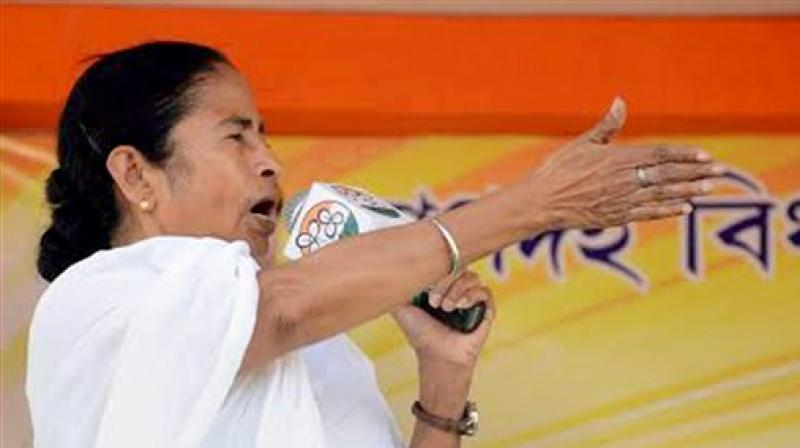 West Bengal Chief Minister and TMC Chief Mamata Banerjee addresses an election campaign rally. (Photo: PTI)