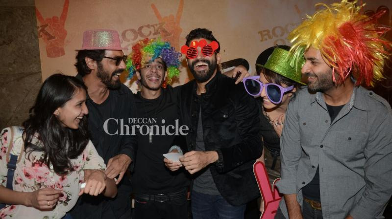 Farhan Akhtar, Arjun Rampal and Purab Kohli will be joined by Shraddha Kapoor and Shashank Arora in the sequel to 2008's rock musical drama, 'Rock On!!'. (Pic: Viral Bhayani)