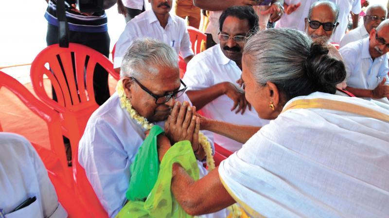 LDF candidate V.S. Achuthanandan