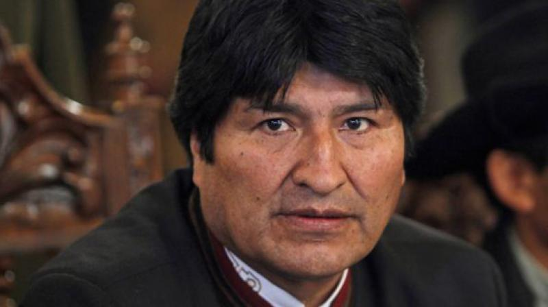 """""""I am sending my resignation letter to the Legislative Assembly of Bolivia,"""" the 60-year-old socialist leader said. (Photo'; File)"""