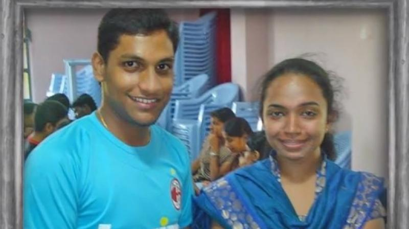 Jai and Sunitha before she met with the life-altering accident. (Screen grab: Facebook/ Logical Indian)
