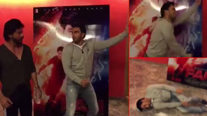 While sharing Ranveer's hilarious video, SRK called the star a 'Jabra Band Baaja Wale' fan.