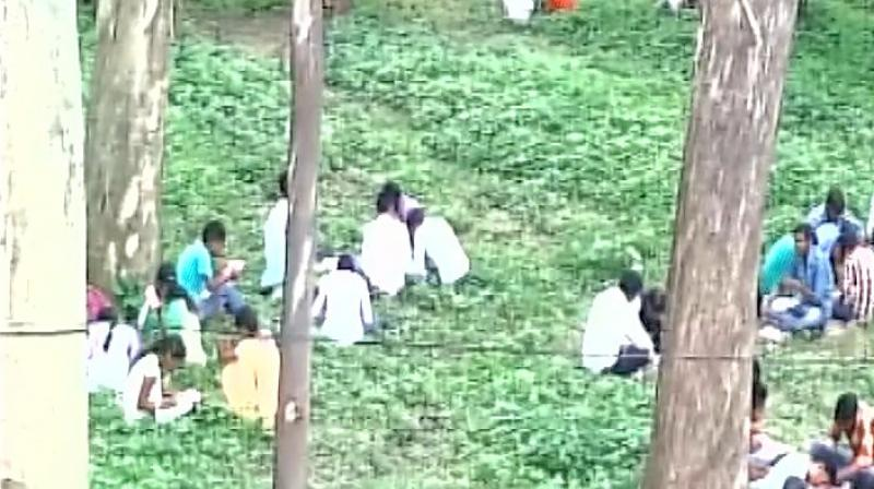 The college authorities claimed that there was not enough room in the campus to accommodate all the students. (Photo: ANI Twitter)