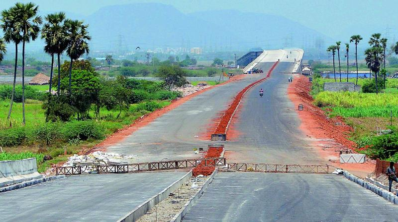 Vijayawada tenders for capital roads a flyover and the inner ring road take shape for public use at ramavarapadu in vijayawada malvernweather Images