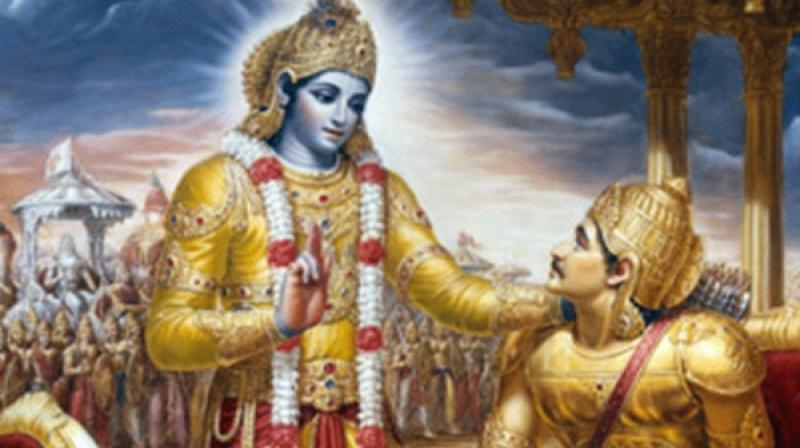 Bhagwad Gita teachings - Artist's impression (Photo courtesy: vedicculturalcenter.org)