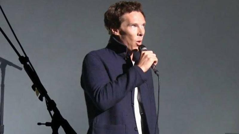 Benedict Cumberbatch at the show.