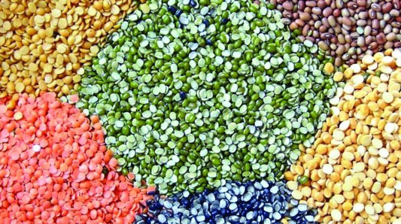 The prices of pulses were increasing due to shortfall in arrivals.