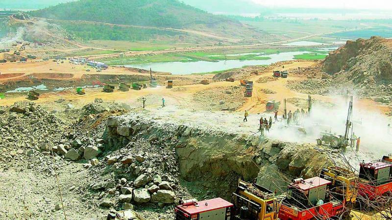 Did Polavaram cofferdam causes damage due to floods?