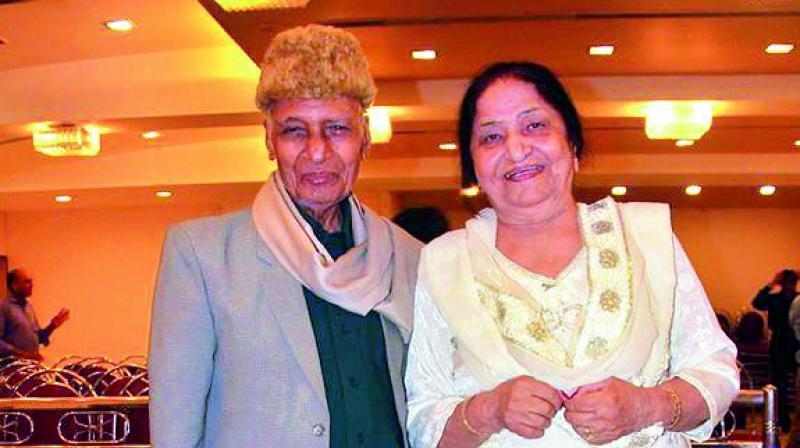 Zahur Khayyam Hashmi with his wife Jagjit Kaur